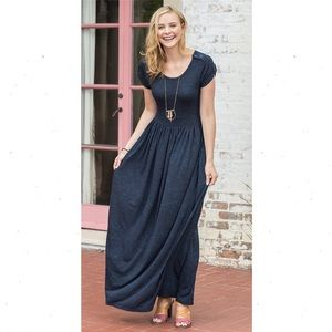 Matilda Jane Women's Deep Water Maxi Dress Medium